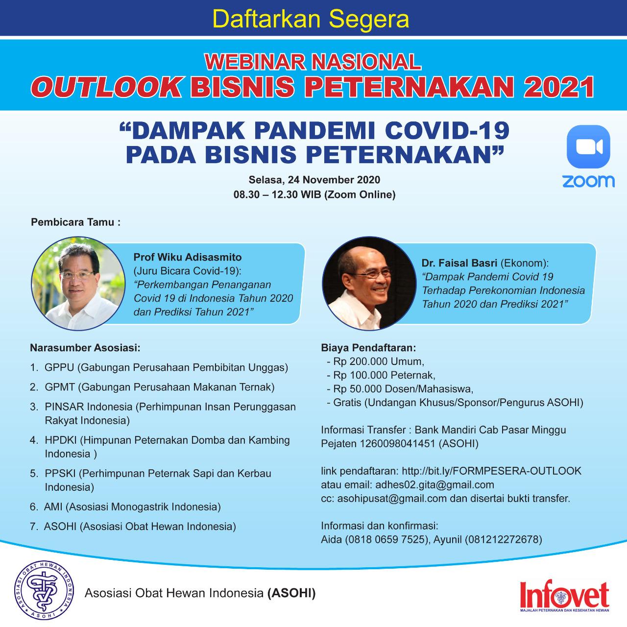 """Webinar Outlook Bisnis Peternakan""""Dampak Pandemi Covid-19 pada Bisnis Peternakan"""""""
