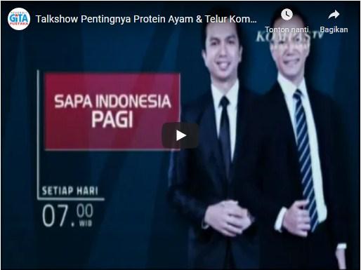 Talkshow Pentingnya Protein Ayam & Telur Kompas TV, Selasa 01 Juni 2021